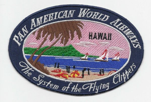 "Pan American Airways ""Hawaii"" Luggage Label patch"