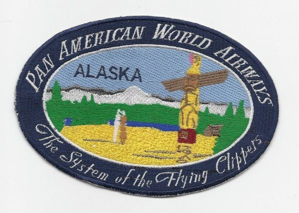 "Pan American Airways ""Alaska"" Luggage Label patch"