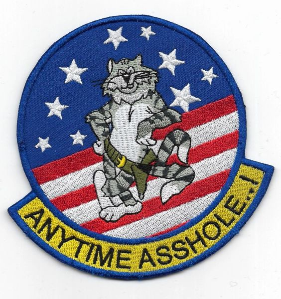 "US Navy F-14 Tomcat ""Anytime Asshole!"" patch"