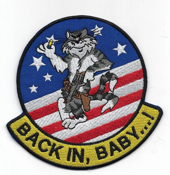 "US Navy F-14 Tomcat ""Back In, Baby!"" patch"