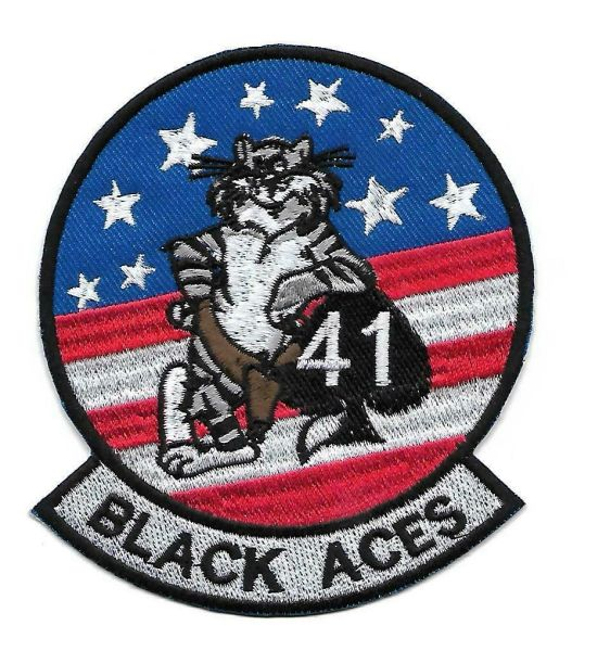 "US Navy F-14 Tomcat ""Black Aces"" patch"