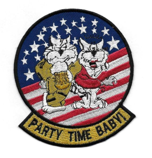 "US Navy F-14 Tomcat ""Party Time Baby!"" patch"