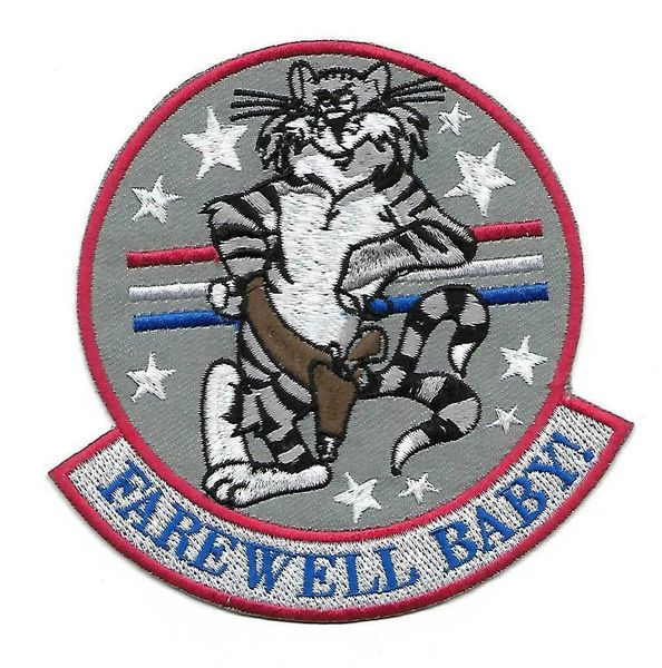 "US Navy F-14 Tomcat ""Farwell Baby!"" patch"