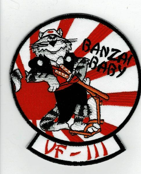 "US Navy F-14 Tomcat ""VF-111 Banzai Baby!"" patch"