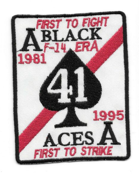 """VF-41 Black Aces """"First To Fight First To Strike"""" patch"""