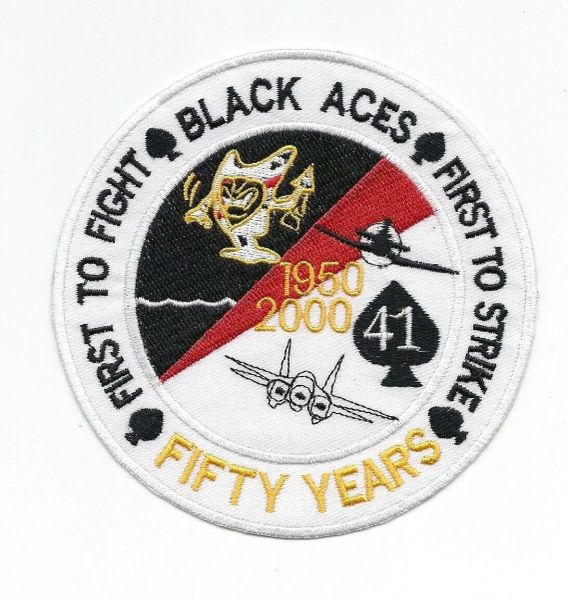 """VF-41 """"Black Aces"""" 50th Anniversary patch."""