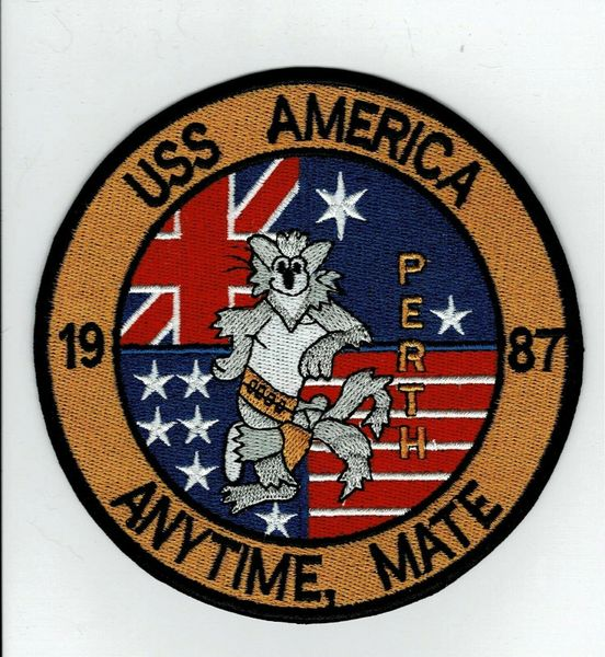 "USS America CV-66 ""Any Time Mate - 1987"" F-14 Tomcat patch"