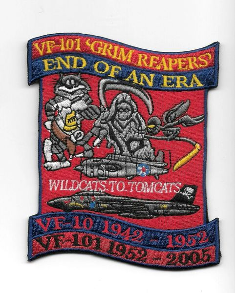 "F-14 Tomcat VF-101 Grim Reapers ""End Of An Era"" patch"