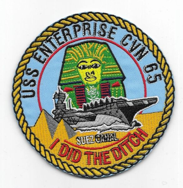 "USS Enterprise CVN-65 ""I Did The Ditch"" patch"