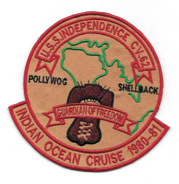 USS Independence CV-62 Indian Ocean Cruise 1980-81 patch