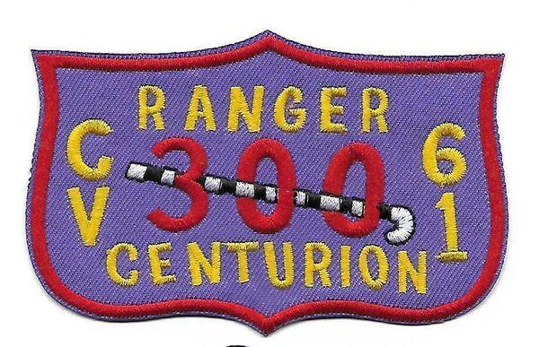"""USS Ranger CV-61 """"300 Centurion"""" patch"""