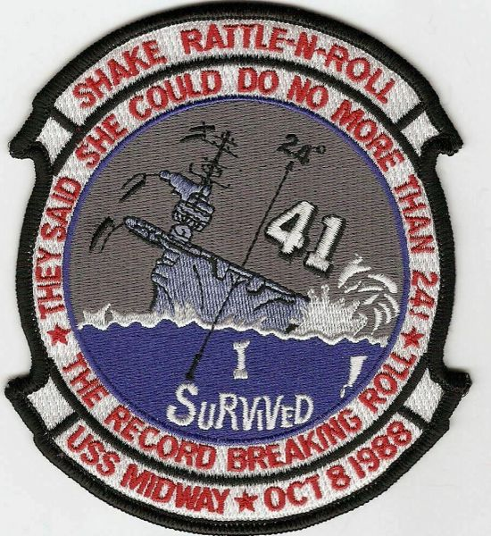 """USS Midway CV-41 """"Shake, Rattle & Roll"""" patch"""