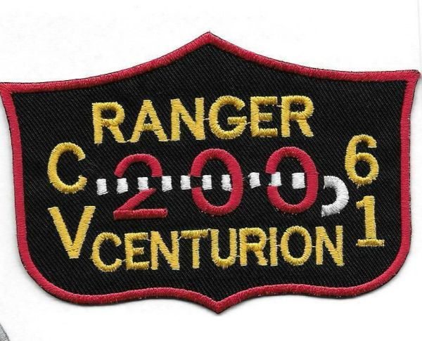 """USS Ranger CV-61 """"200 Centurion"""" patch"""