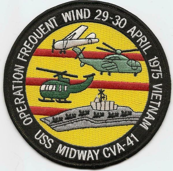 "USS Midway CVA-41 ""Operation Frequent Wind"" patch"