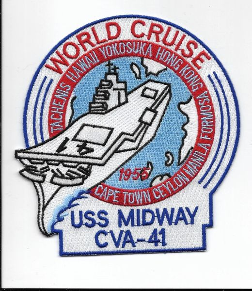 USS Midway CVA-41 World Cruise 1955 patch