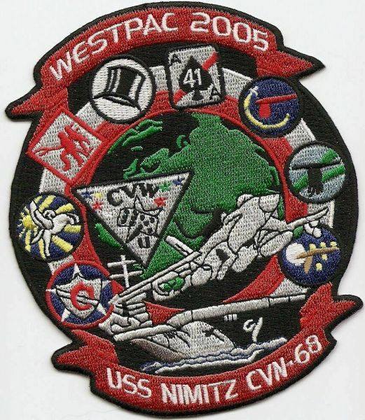 USS Nimitz CVN-68 Westpac 2005 Cruise patch