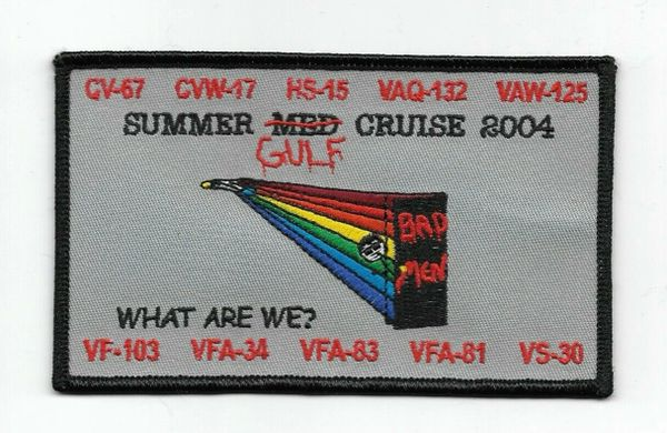 "US John F Kennedy CV-67 ""Summer Gulf Cruise 2004"" patch"