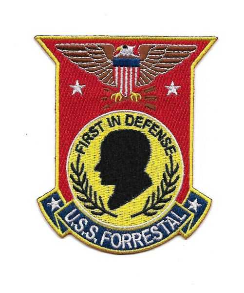 "USS Forrestal ""First In Defense"" CVA-59 patch"