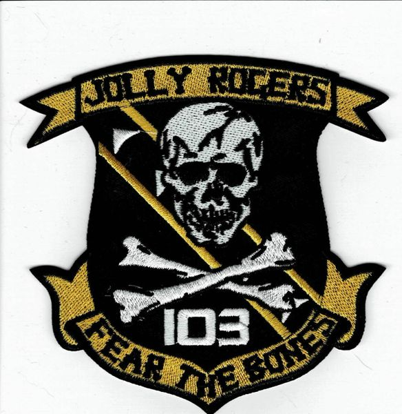 "US Navy VF-103 Jolly Rogers ""Fear The Bones"" Squadron patch"