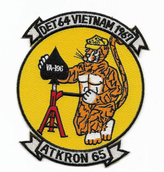 "US Navy Attack Squadron VA-196 ""DET 64 Vietnam 1967"" patch"