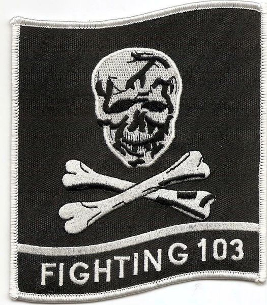 "US Navy Jolly Rogers VF-103 ""Fighting 103"" patch"