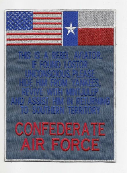Confederate Air Force back patch (Texas flag variant)