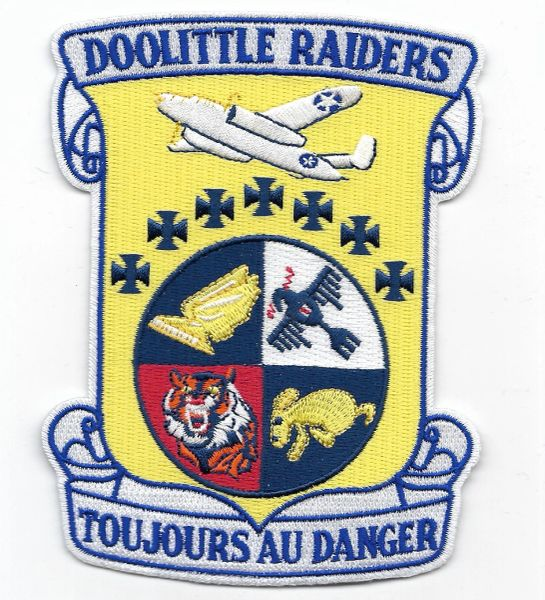 "Doolittle Raiders ""Toujours Au Danger"" Commemorative patch."