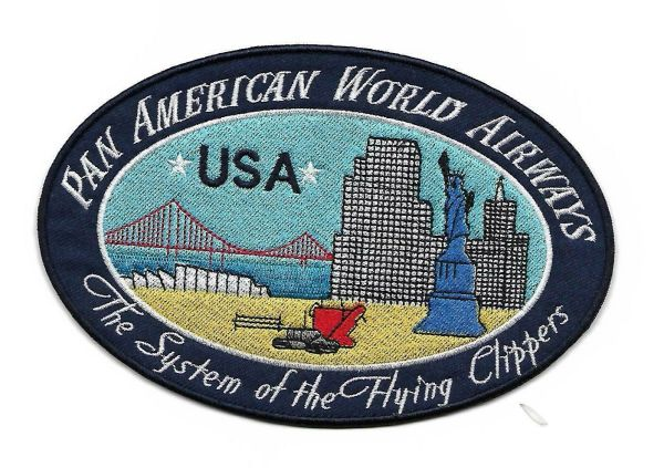 "Pan American Airways ""USA"" Luggage Label patch."