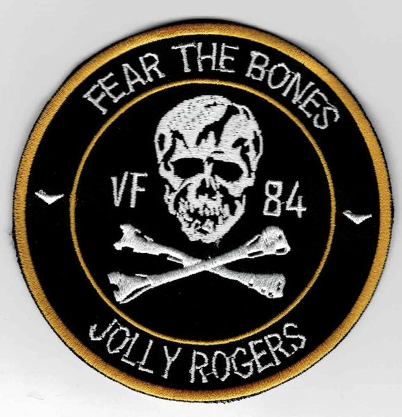 "US Navy VF-84 Jolly Rogers ""Fear The Bones"" Squadron patch."