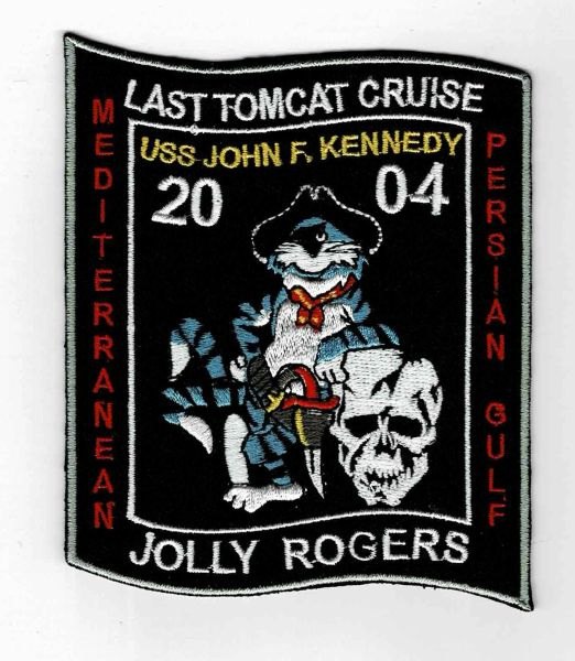 USS John F. Kennedy CVN-79 Jolly Rogers Last Tomcat Cruise patch.