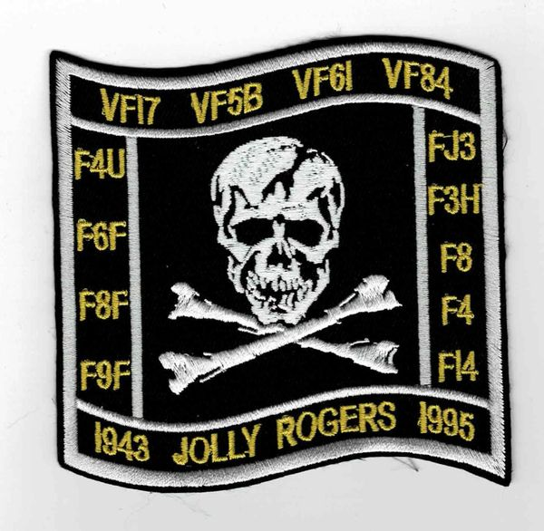 "US Navy Jolly Rogers ""1943 - 1995"" Squadron patch."