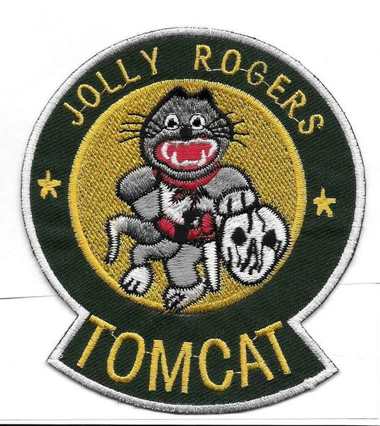 """F-14 Tomcat """"Jolly Rogers"""" patch."""