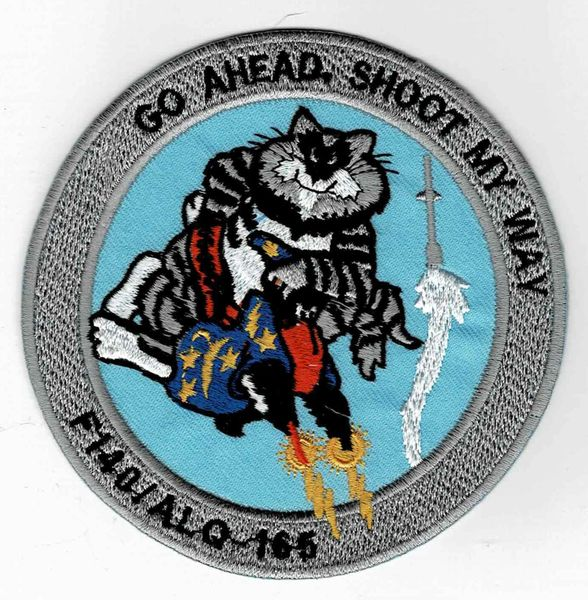 "F-14 Tomcat ""Go Ahead, Shoot My Way"" patch."