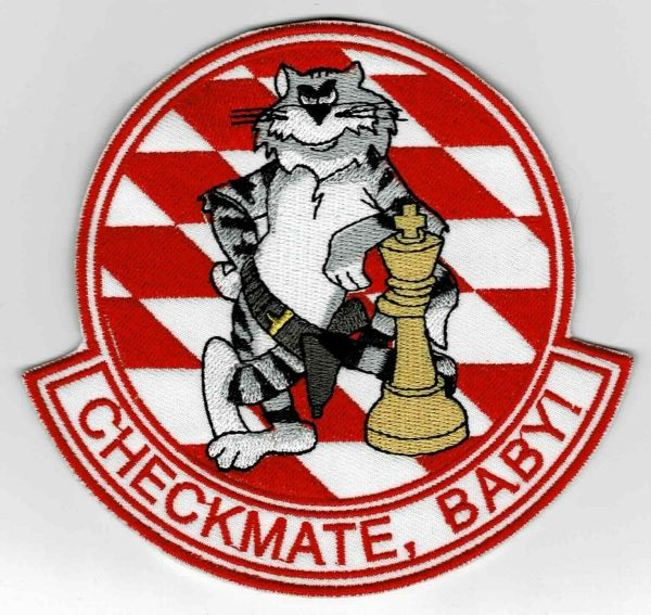 "F-14 Tomcat ""Checkmate, Baby!"" patch."
