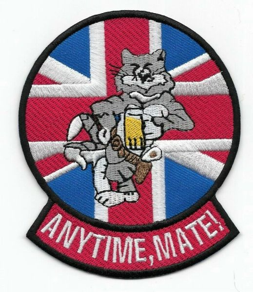 "F-14 Tomcat ""Anytime, Mate!"" patch."