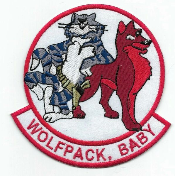 "F-14 Tomcat VF-1 ""Wolfpack, Baby!"" patch."