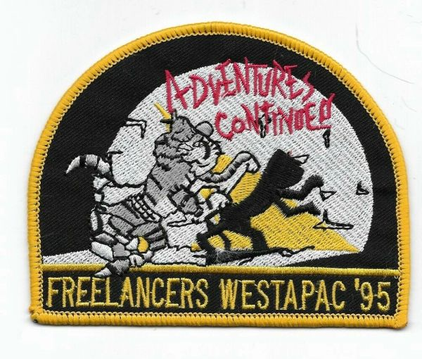 "F-14 Tomcat ""Freelancers Westpac '95 - Adventures Continued!"" patch."