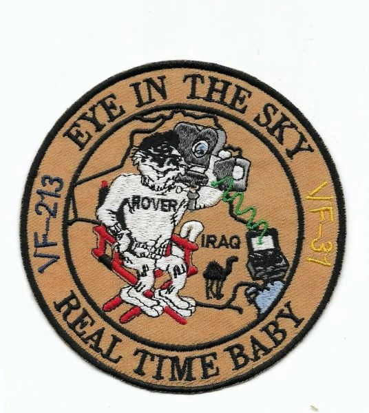 "F-14 Tomcat ""Eye In The Sky - Real Time Baby"" patch."