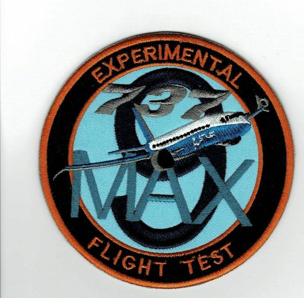 Rare 737-9 Max Flight Test patch.