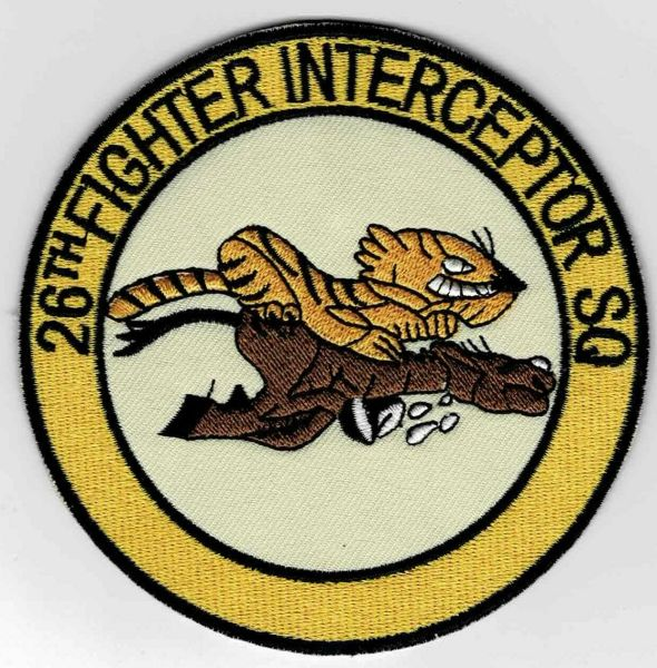 "USAF 26th Fighter Interceptor Squadron ""Flying Horse Squadron"" patch."