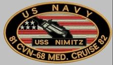 Nimitz Med Cruise 81 - 82 Patch