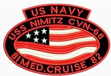 Nimitz Med Cruise 81 - 82 Patch Style 2 .
