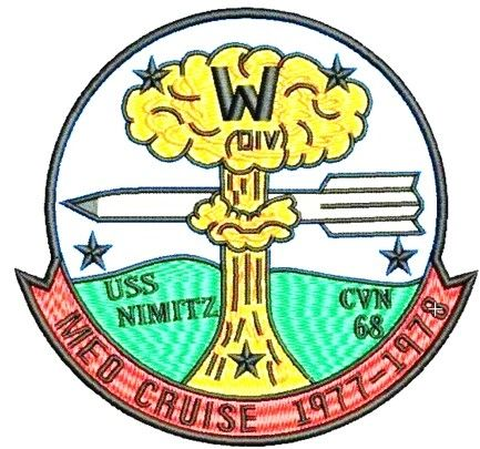 Nimitz Med Cruise 1977 - 1978 patch.