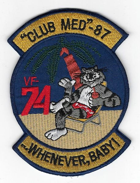 "F-14 Tomcat ""Club Med"" 87 ""Whenever, Baby!"" patch."