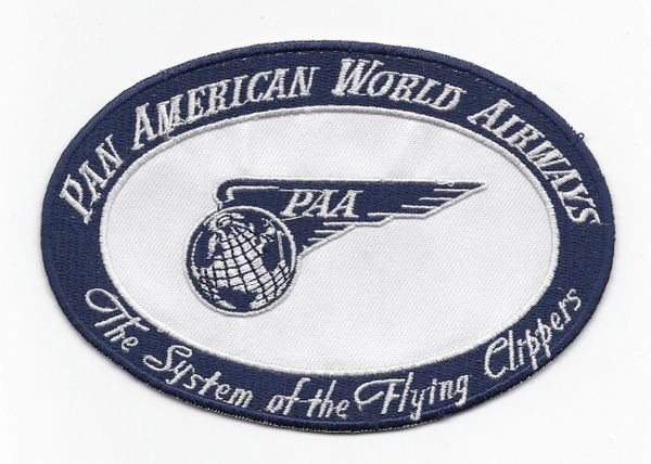 "Pan American Airways ""Flying Globe"" Luggage Label patch"