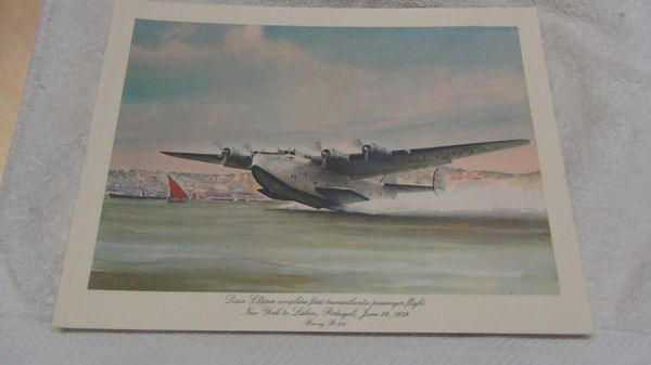 Pan Am historic flights First Class menu. Boeing B-314 Flying Boat Dixie Clipper