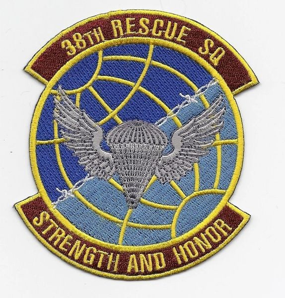 """USAF 38th Rescue Squadron """"Strength & Honor"""" patch"""