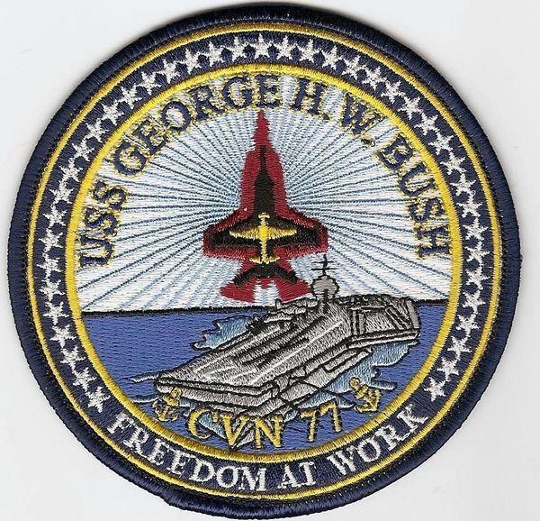 Aircraft Carrier USS George H. W. Bush CVN-77 patch