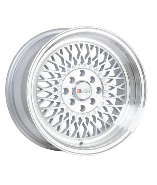 F1R Wheels F01 Machine Silver 15x8 4X100