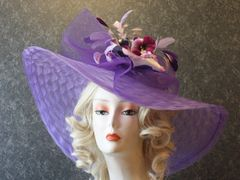 Purple Derby Hat